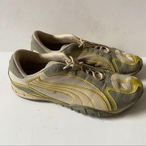 Puma sneakers yellow grey casual 10